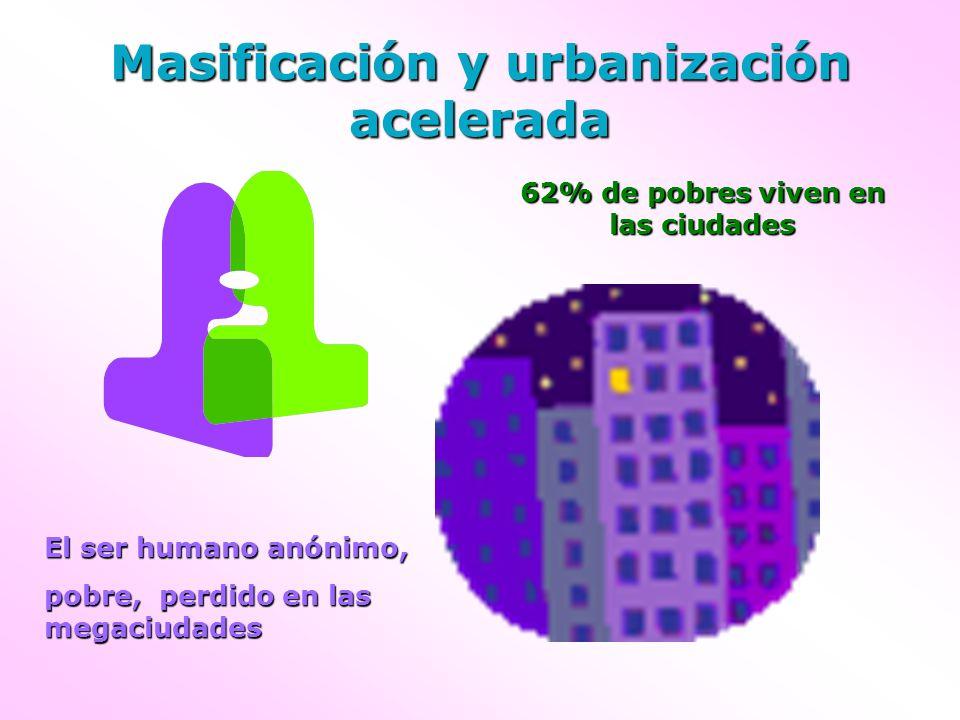 Masificación y urbanización acelerada