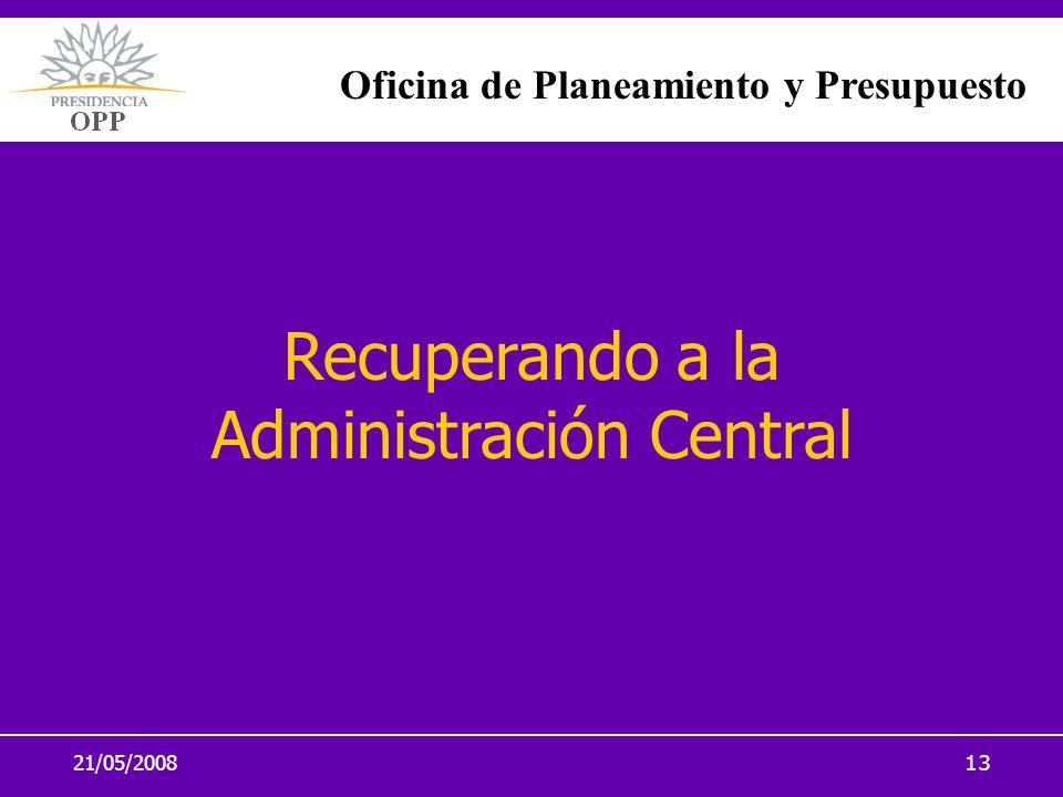 Recuperando a la Administración Central