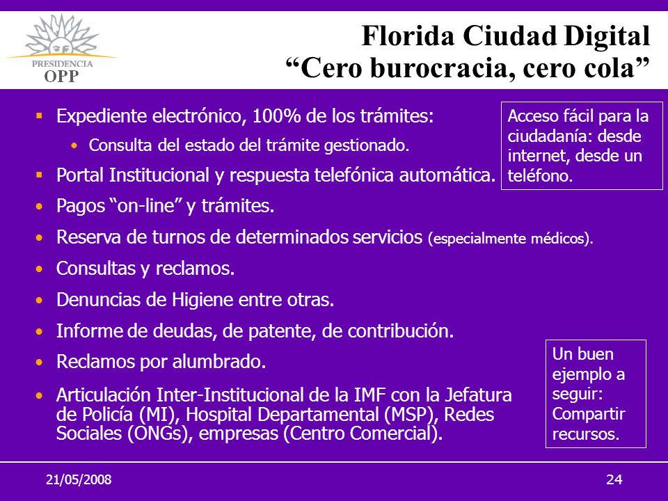 Florida Ciudad Digital Cero burocracia, cero cola