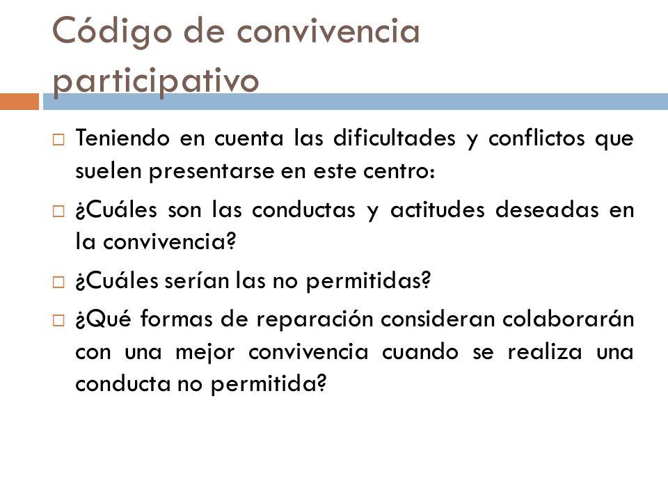 Código de convivencia participativo