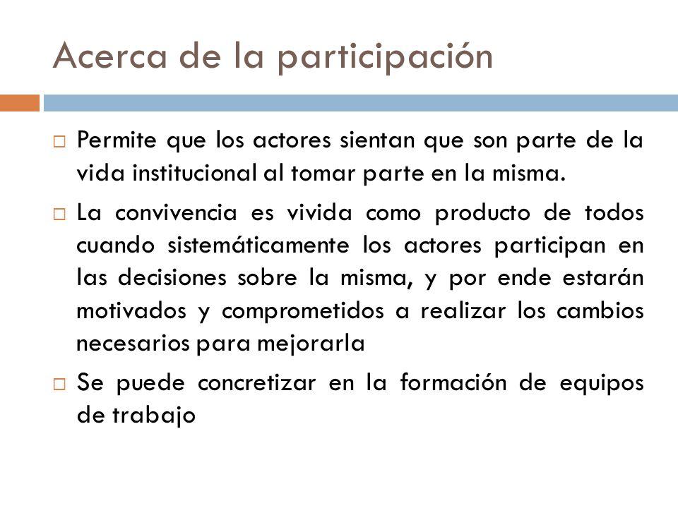 Acerca de la participación