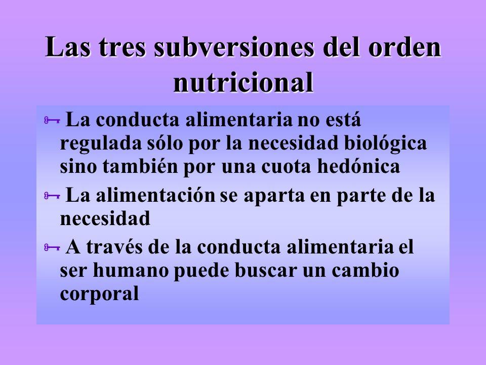 Las tres subversiones del orden nutricional