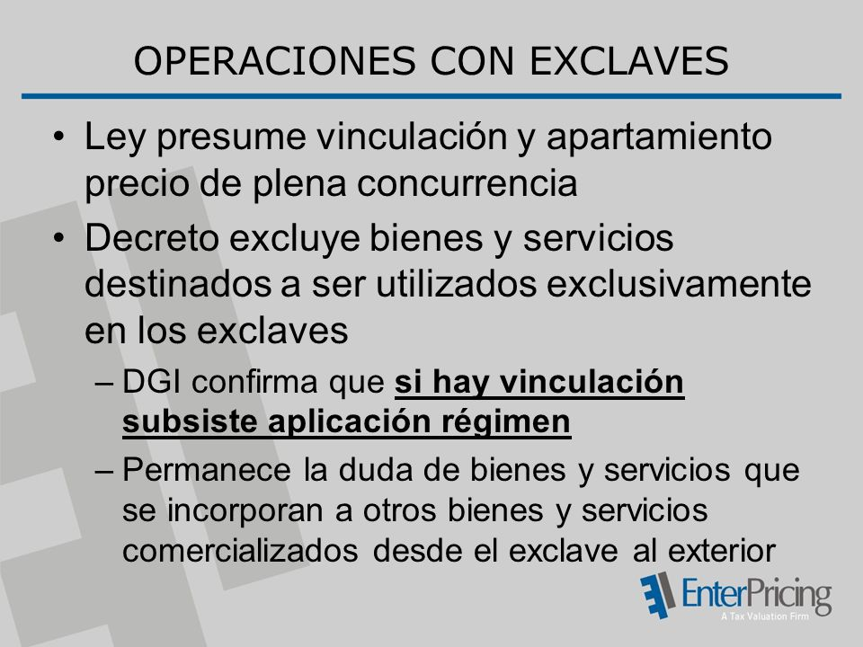 OPERACIONES CON EXCLAVES