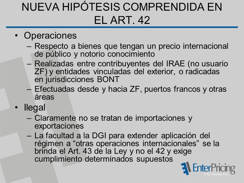 NUEVA HIPÓTESIS COMPRENDIDA EN EL ART. 42