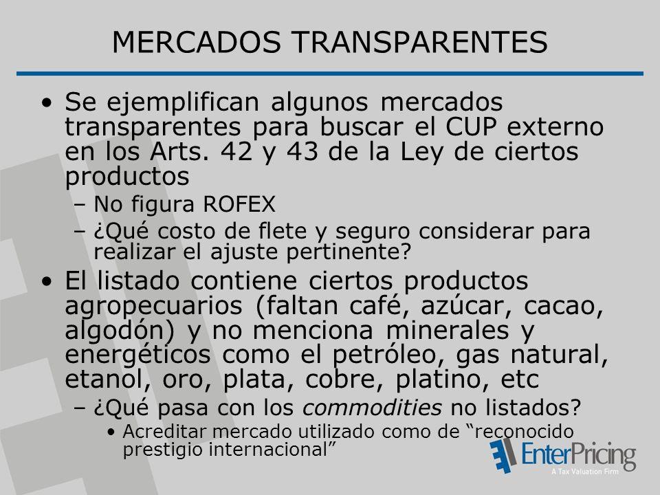 MERCADOS TRANSPARENTES