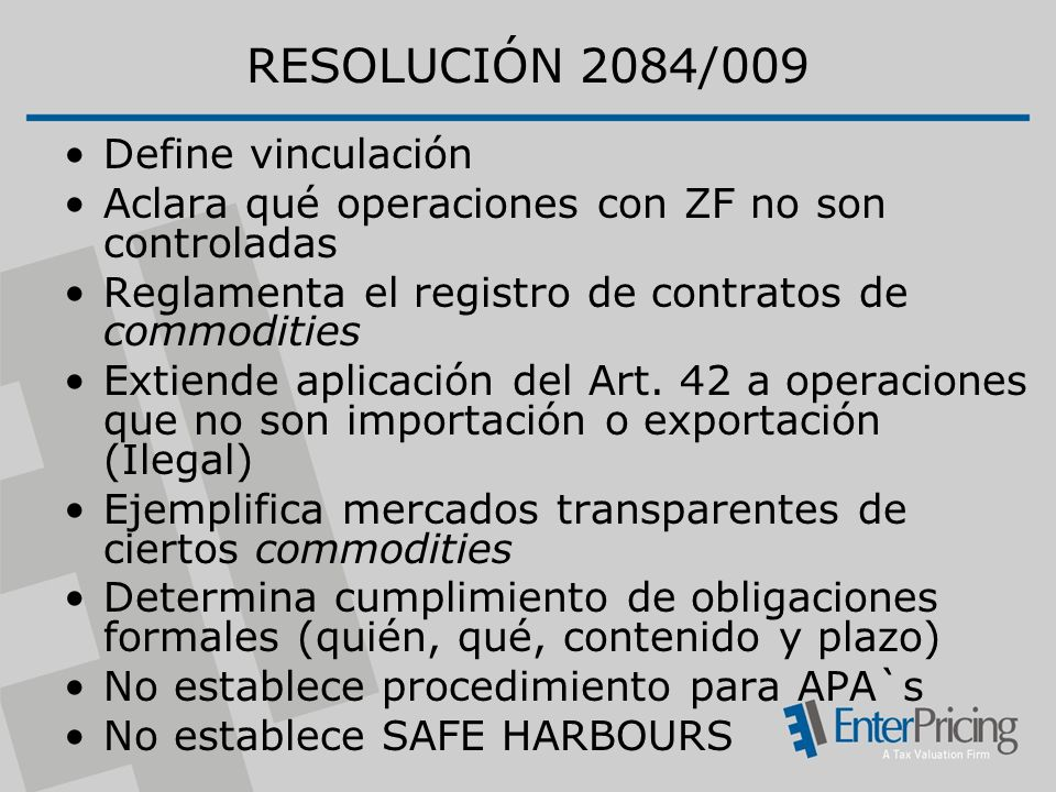 RESOLUCIÓN 2084/009 Define vinculación