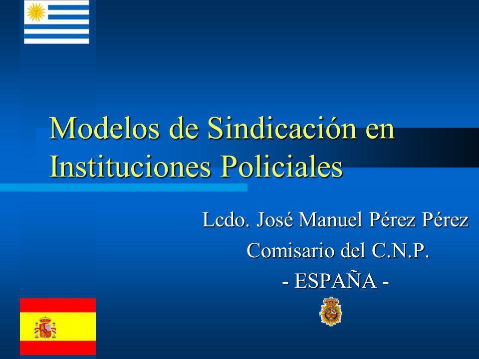 Modelos de Sindicación en Instituciones Policiales