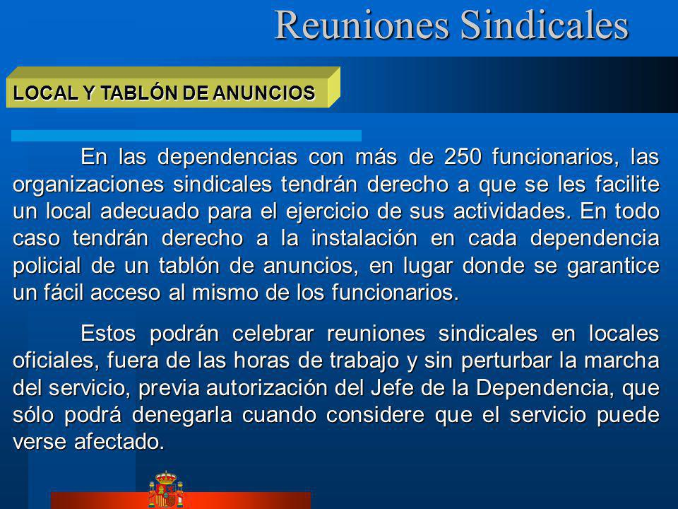 Reuniones Sindicales LOCAL Y TABLÓN DE ANUNCIOS.