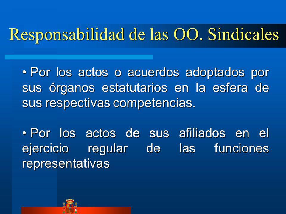 Responsabilidad de las OO. Sindicales