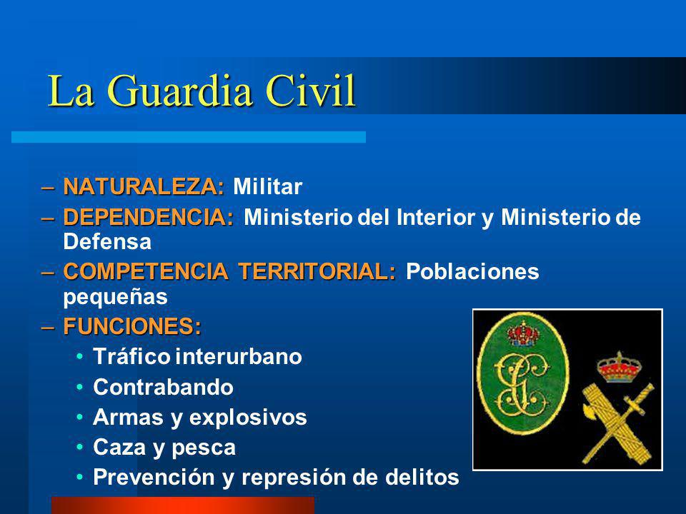 La Guardia Civil NATURALEZA: Militar