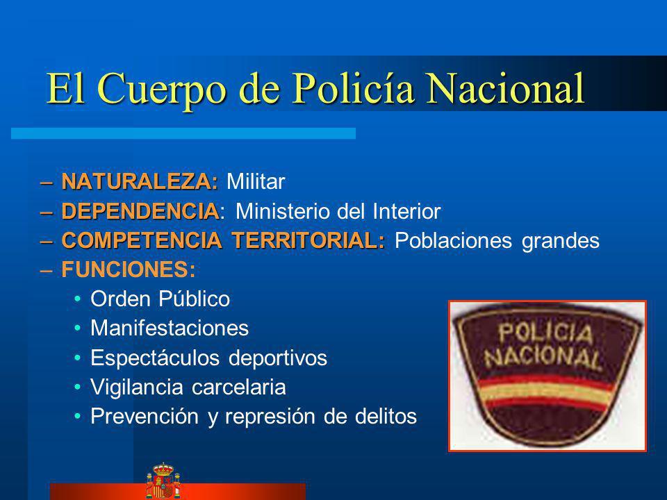 El Cuerpo de Policía Nacional