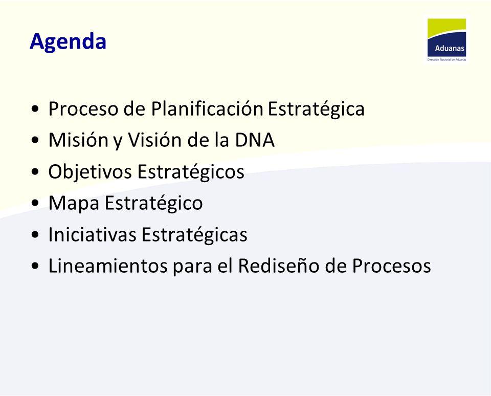 Agenda Proceso de Planificación Estratégica Misión y Visión de la DNA