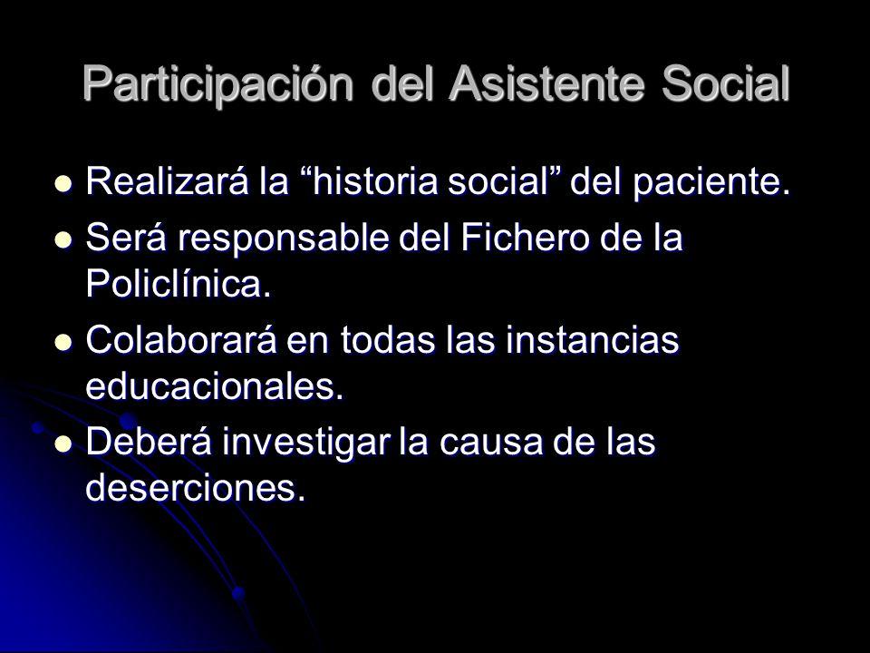 Participación del Asistente Social