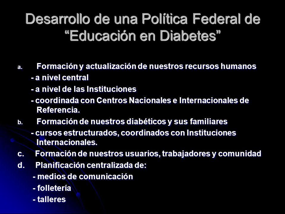 Desarrollo de una Política Federal de Educación en Diabetes