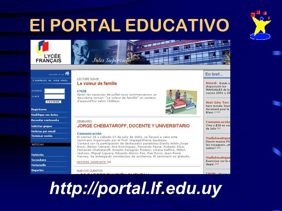El PORTAL EDUCATIVO http://portal.lf.edu.uy