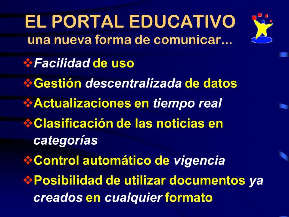 EL PORTAL EDUCATIVO una nueva forma de comunicar...
