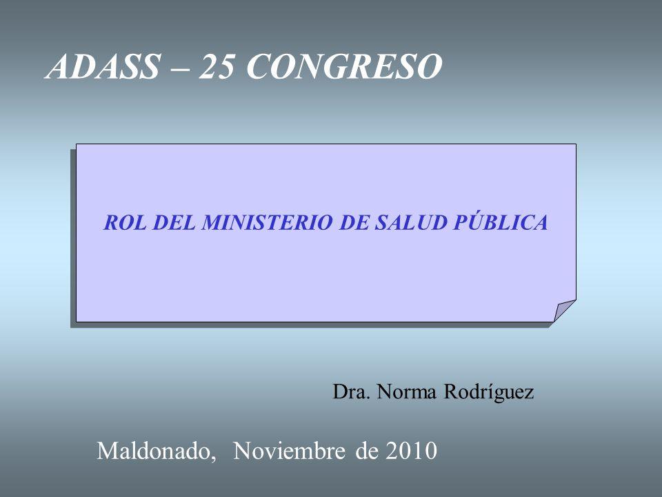 ROL DEL MINISTERIO DE SALUD PÚBLICA