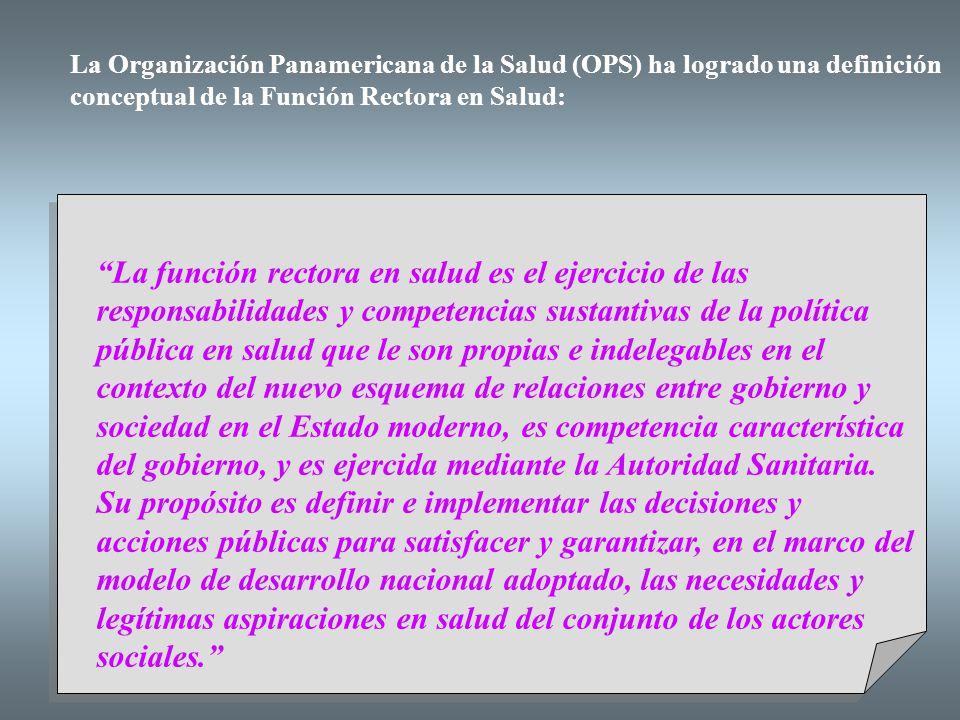 La Organización Panamericana de la Salud (OPS) ha logrado una definición