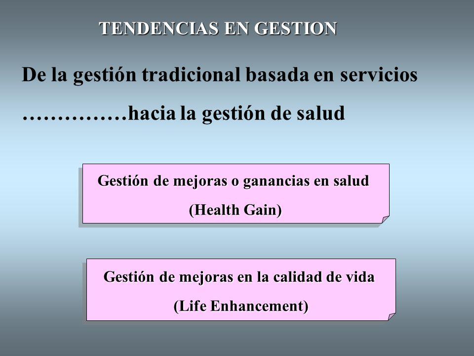De la gestión tradicional basada en servicios
