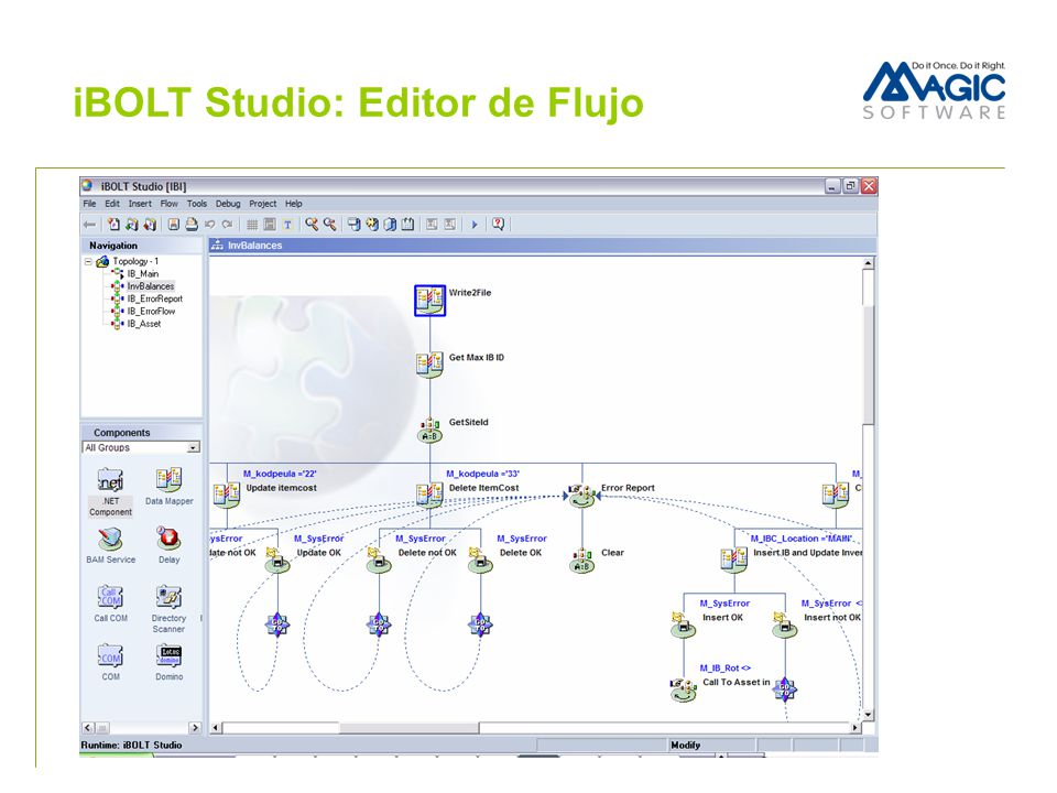 iBOLT Studio: Editor de Flujo