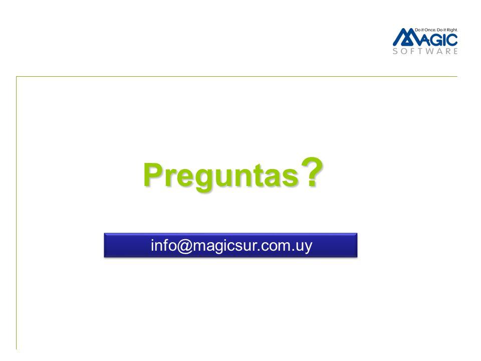 Preguntas info@magicsur.com.uy