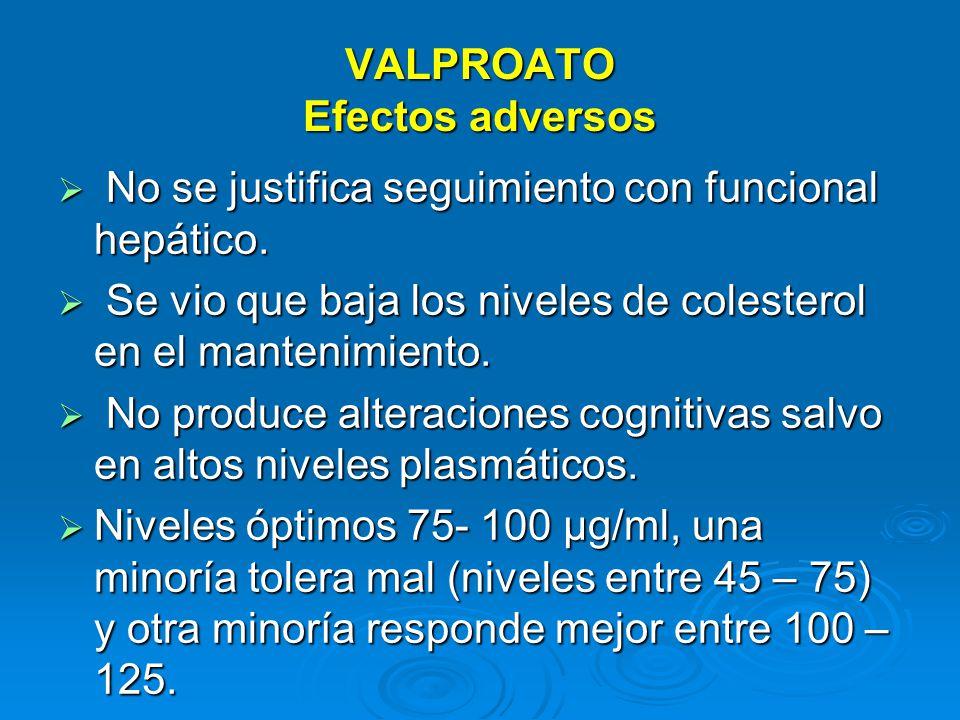 VALPROATO Efectos adversos