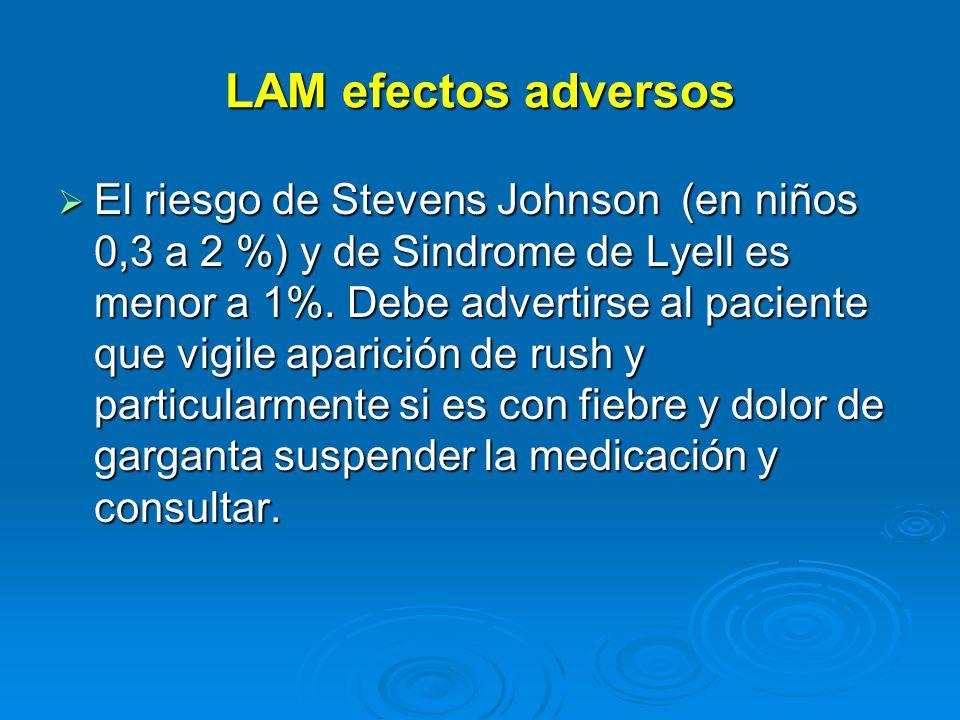 LAM efectos adversos