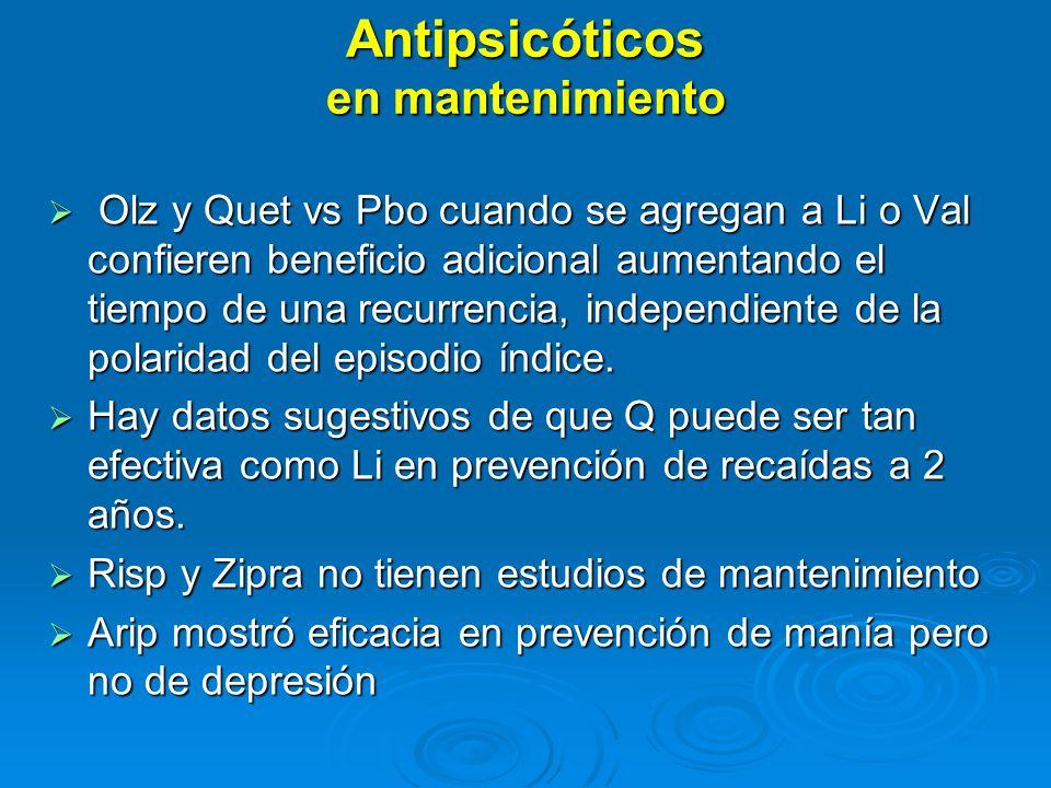 Antipsicóticos en mantenimiento