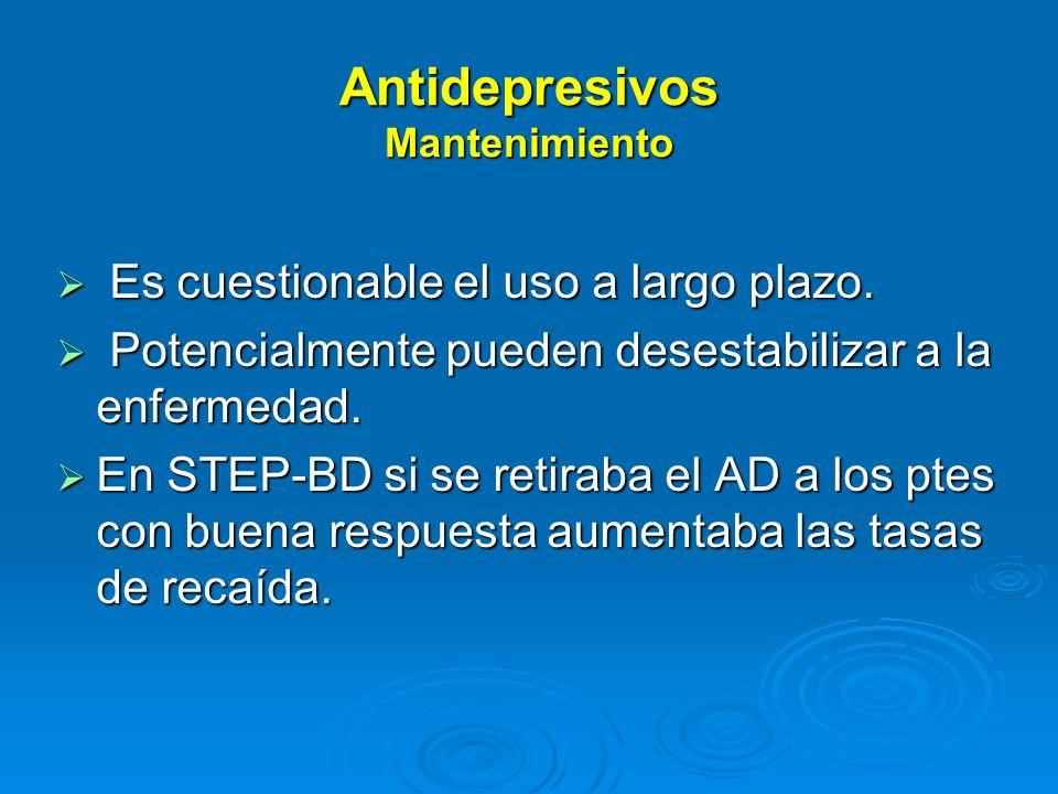 Antidepresivos Mantenimiento