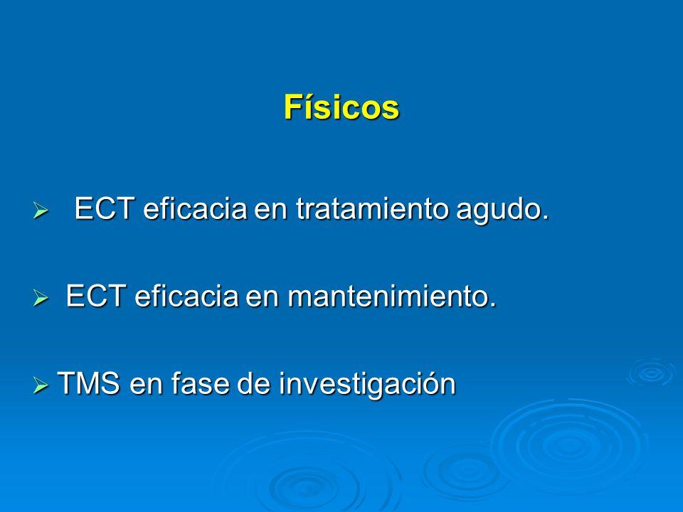 Físicos ECT eficacia en tratamiento agudo.