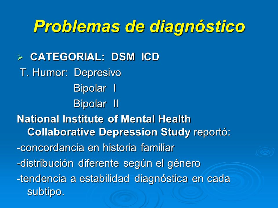 Problemas de diagnóstico