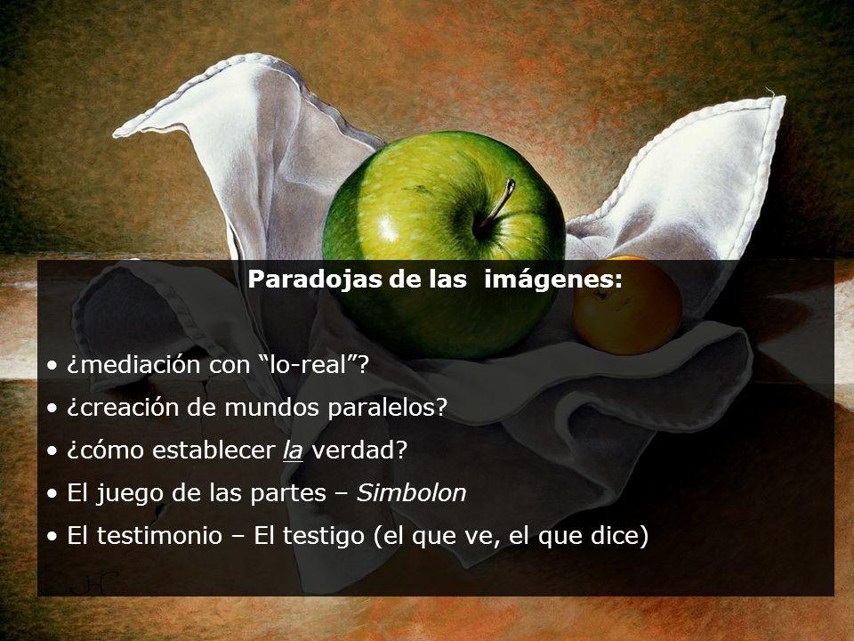 Paradojas de las imágenes: