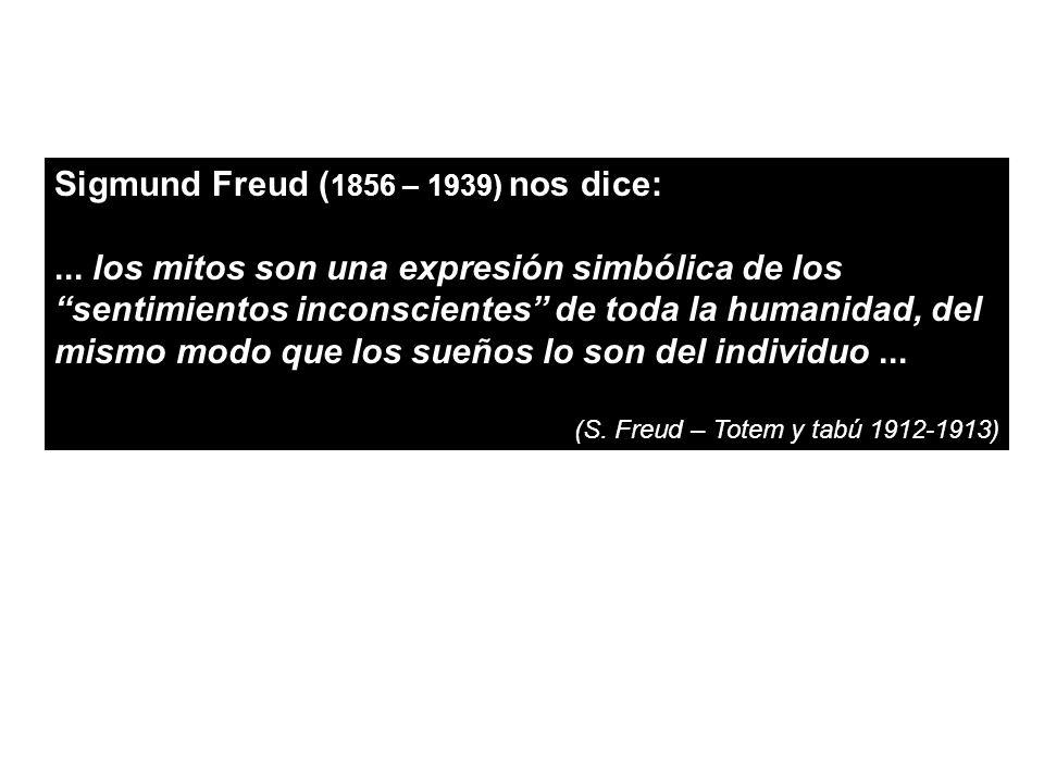 Sigmund Freud (1856 – 1939) nos dice: