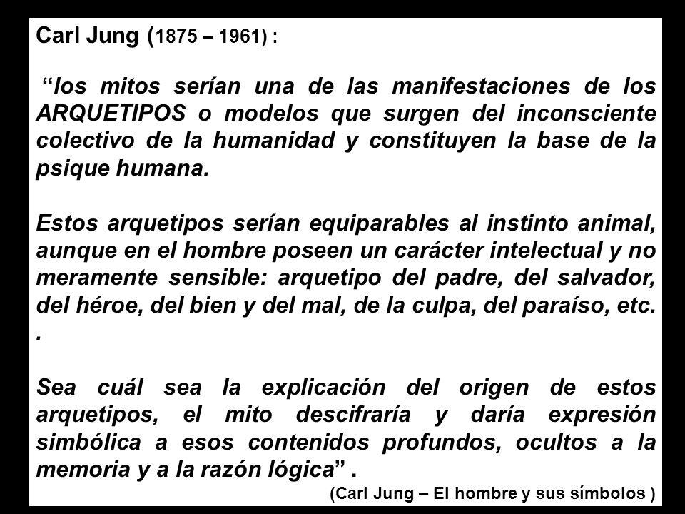 Carl Jung (1875 – 1961) :