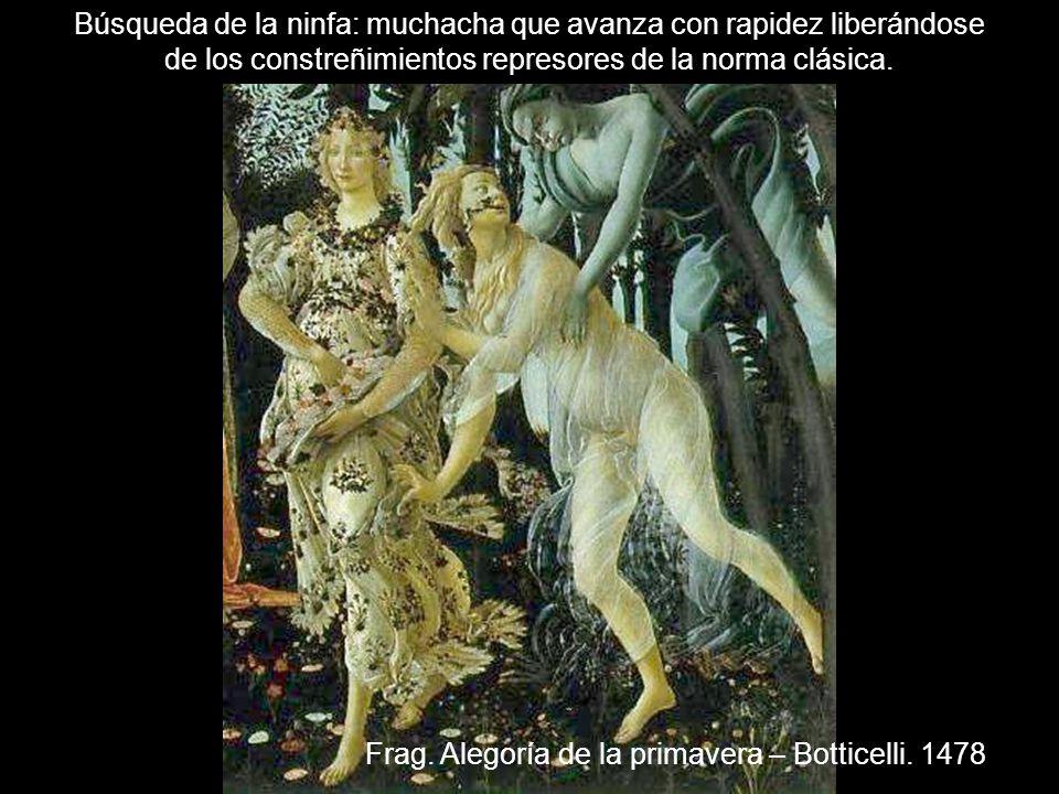 Frag. Alegoría de la primavera – Botticelli. 1478