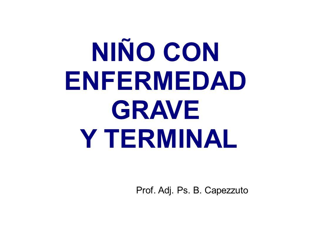 NIÑO CON ENFERMEDAD GRAVE