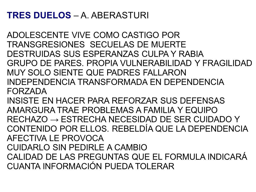 TRES DUELOS – A. ABERASTURI