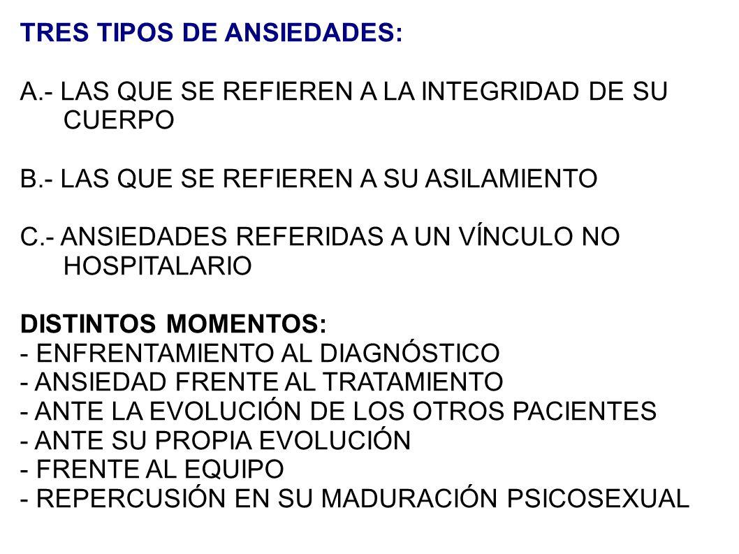 TRES TIPOS DE ANSIEDADES: