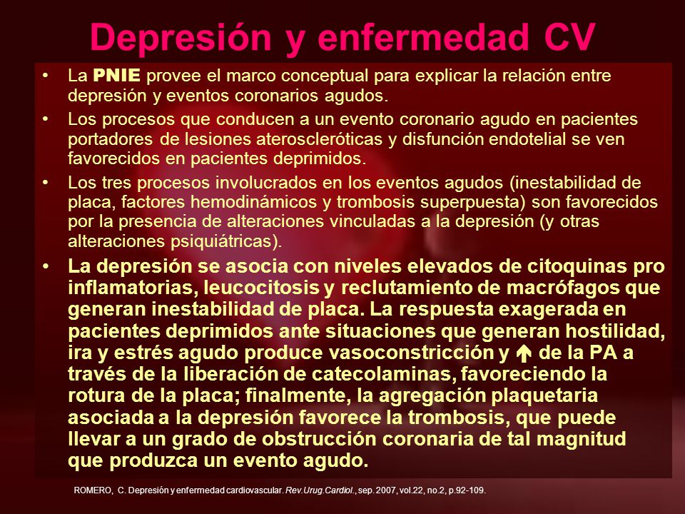 Depresión y enfermedad CV