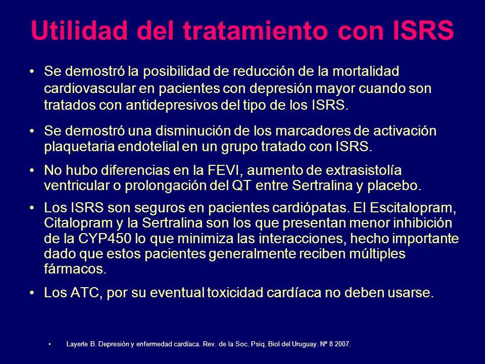 Utilidad del tratamiento con ISRS