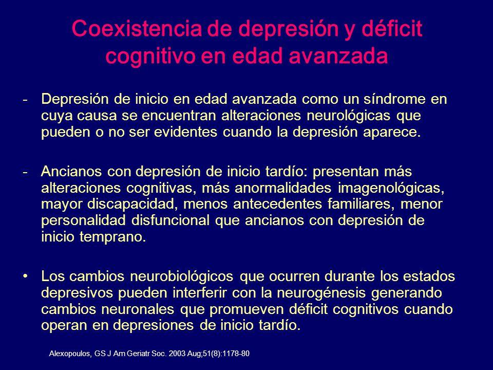 Coexistencia de depresión y déficit cognitivo en edad avanzada