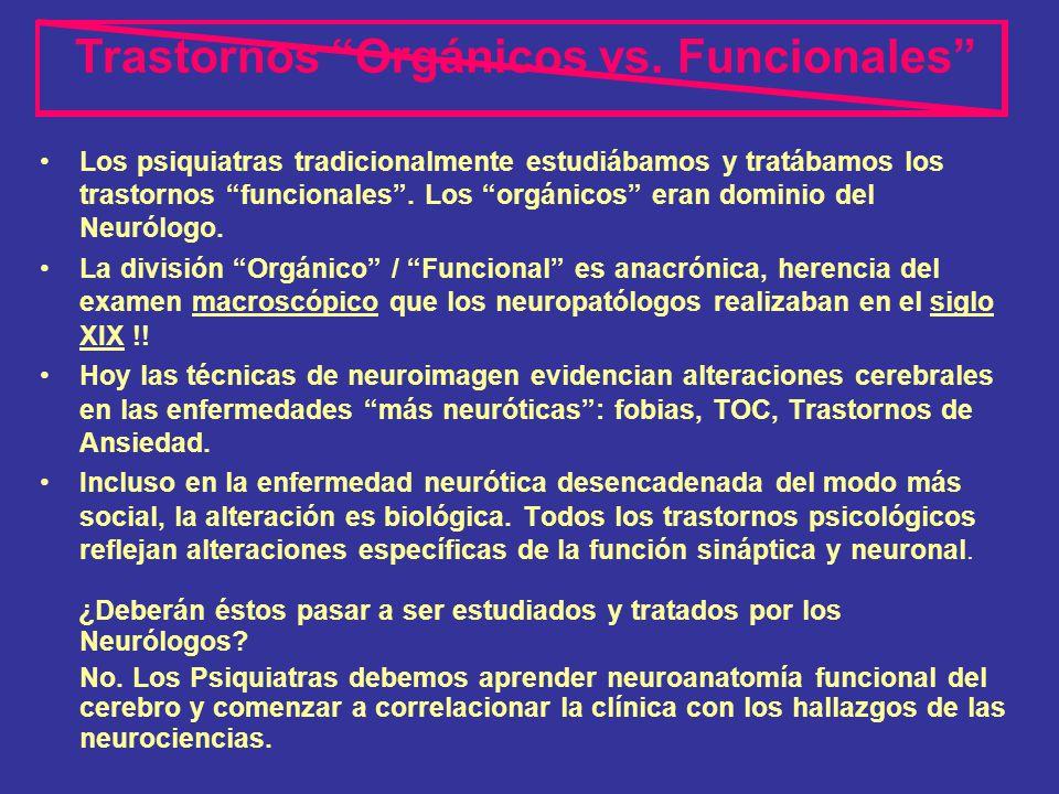 Trastornos Orgánicos vs. Funcionales