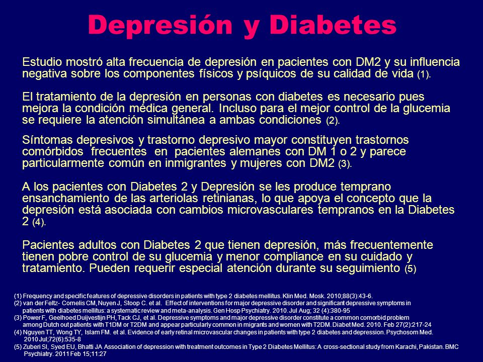 Depresión y Diabetes
