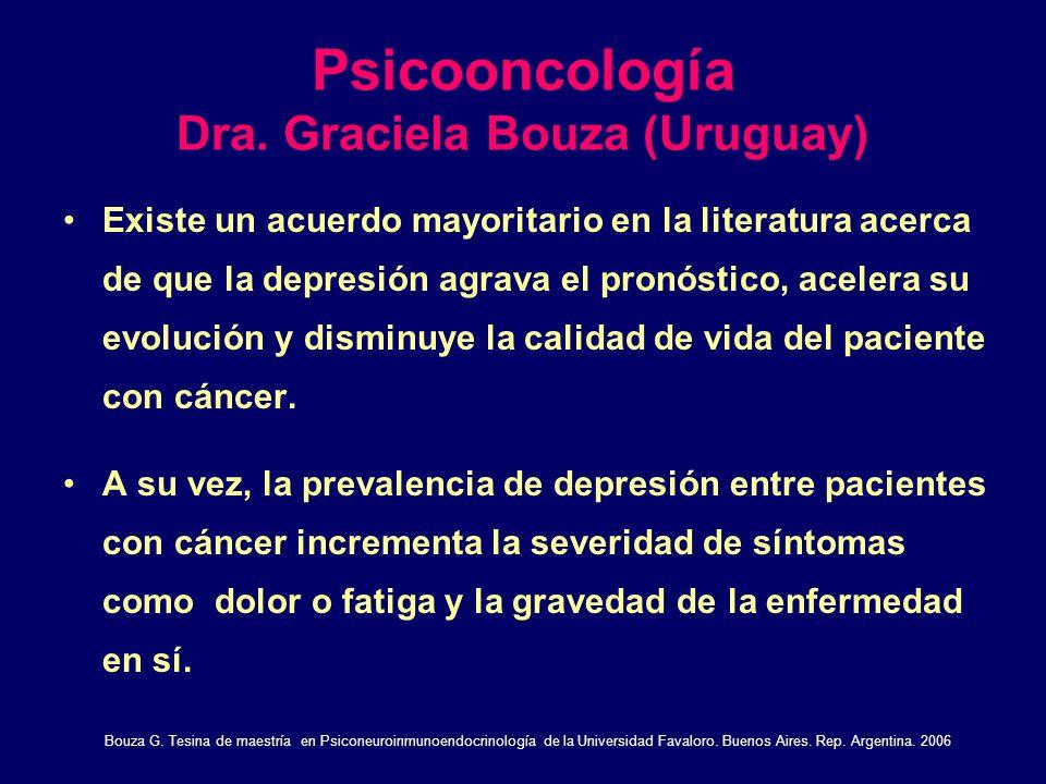 Psicooncología Dra. Graciela Bouza (Uruguay)