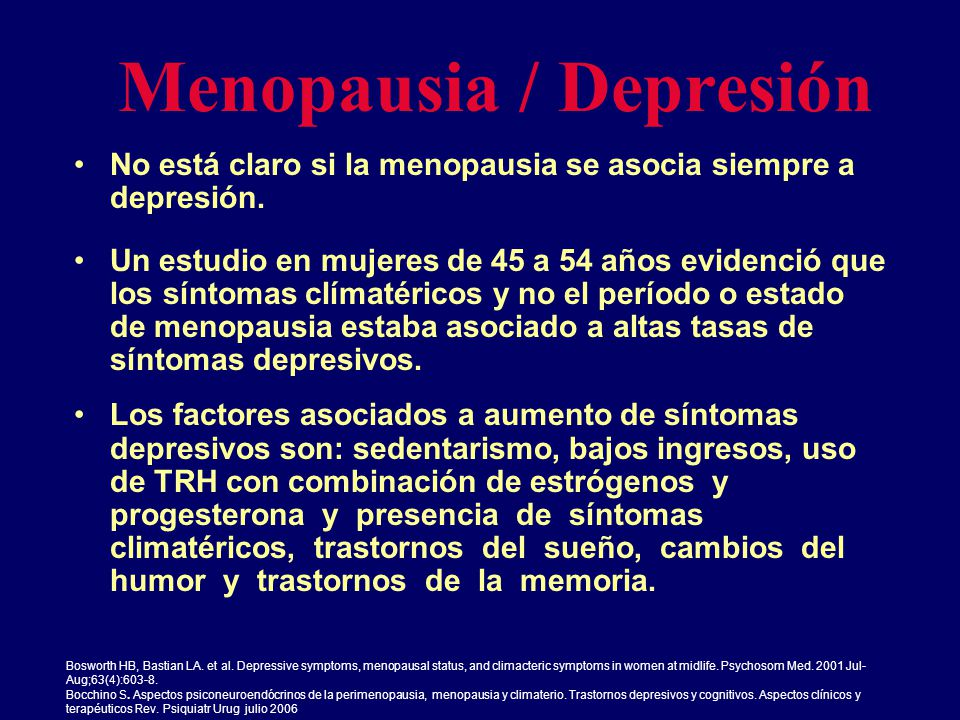Menopausia / Depresión