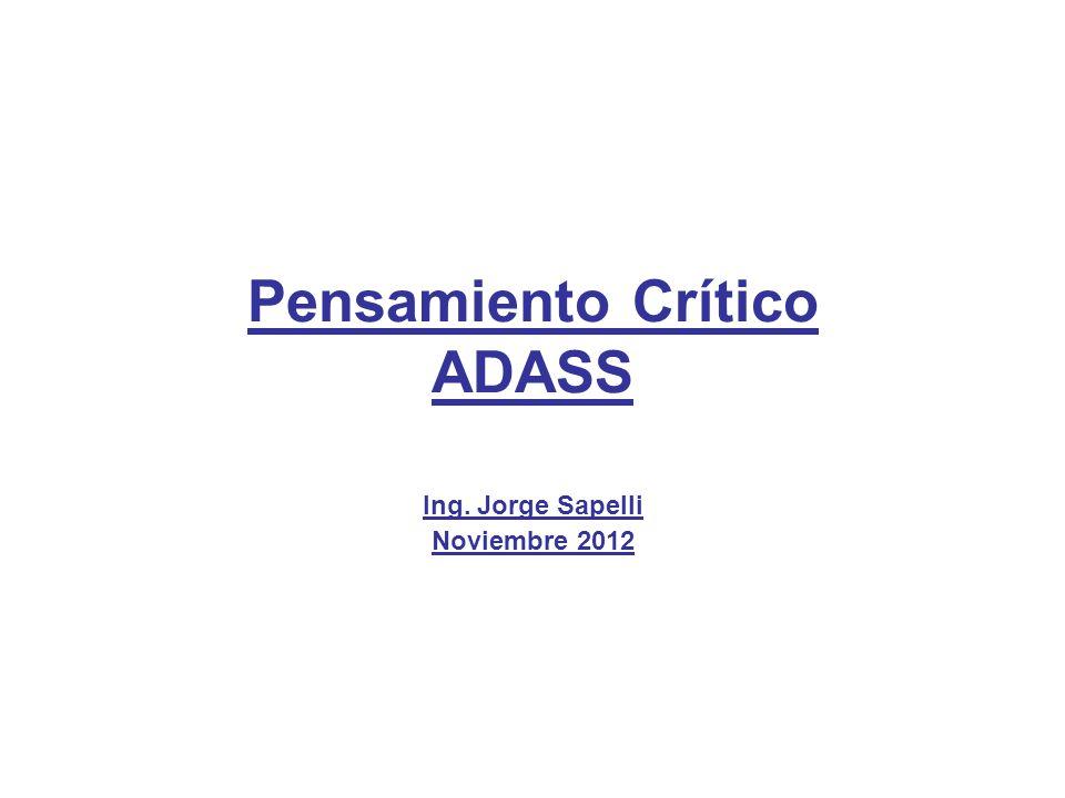 Pensamiento Crítico ADASS