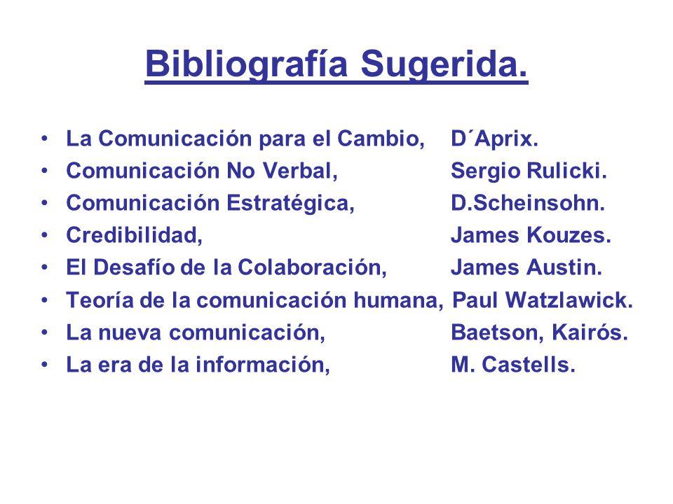 Bibliografía Sugerida.