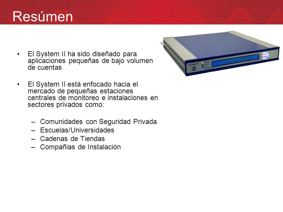 Resúmen El System II ha sido diseñado para aplicaciones pequeñas de bajo volumen de cuentas.