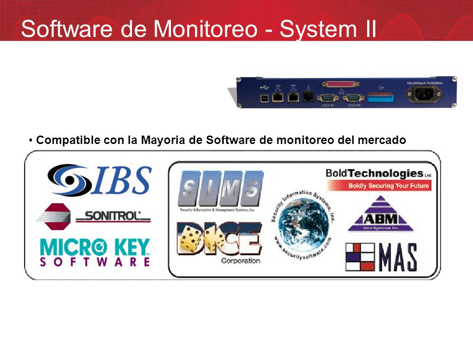 Software de Monitoreo - System II