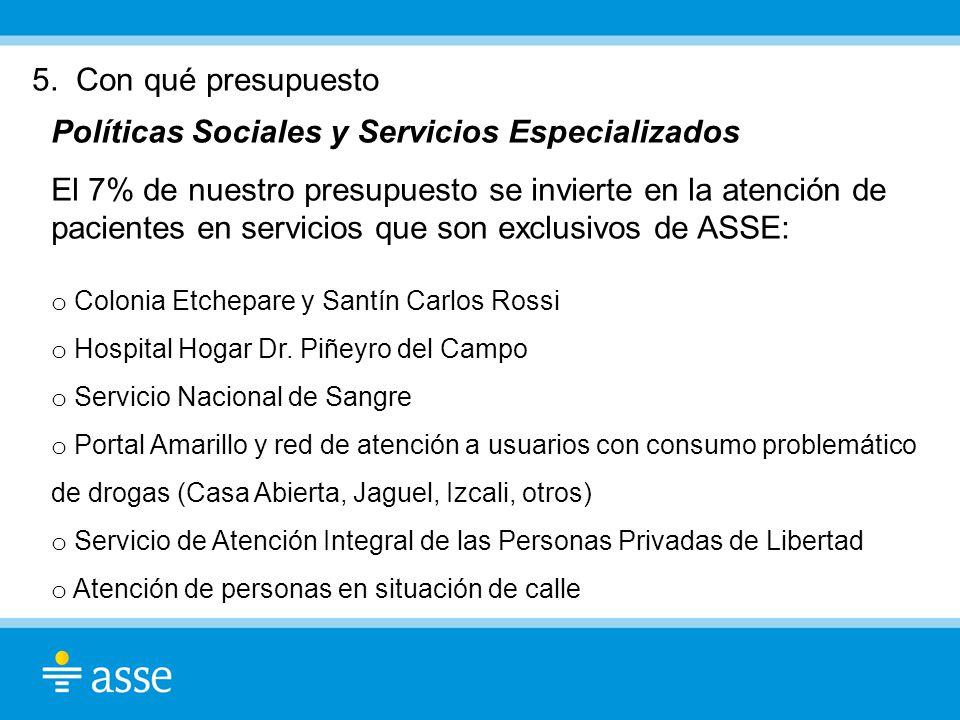 Políticas Sociales y Servicios Especializados